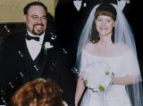 Denver,  Colorado-Jan. 7 2005.   Wedding photo of Peter and Teresa Spitz in the year 2000.  Peter...