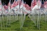 9/11 story.   New York on Sept 10, 2006.    Shannon Kelly, 10, of Riverdale, N.Y., runs through...