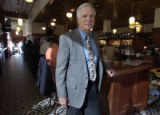(Denver,  COLO. JANUARY 24, 2005)  Media entrepreneur Ted Turner stands by the bar of his...