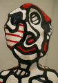 "Jean Dubuffet's ""Erratic Effigy"", 1972, paint on stratified resin, in the new wing of..."