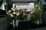 Don Boal, CQ, 78, is in the process of delivering dozen's of bouquets ordered from Songbird...