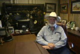 Roy Moore (cq) in his office of Maverick Ranch Natural Meats located at 5360 Franklin St....