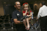 Ed Vallerio holds his two year old granddaughter, Zoe Matteucci. Ed Vallerio, (cq), has been a...