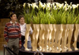 Calla lilies and mannequin legs