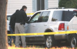 Aurora Police investigators at the scene of an officer involved shooting in the 800 block of North...
