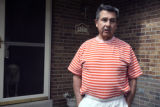 Homeowner Phil Vieira (cq) was told by Douglas County Sheriff Deputies to stay in his home early...