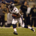 Denver Broncos Reuben Droughns, #34, in the second quarter  at the Louisiana SuperDome in New...