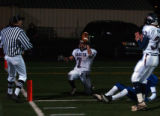Layfette, Colo., photo taken November 19. 2004- Dakota Ridge DB ,Cody Lunsford (#7), shows the...