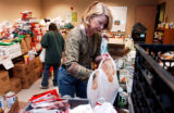 (LAKEWOOD, Colo., November 22, 2004)  Jeffco Action Center volunteer, Lorraine Alcott of Lakewood,...