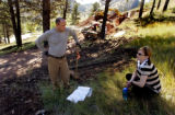 (BOULDER, Colo., October 2, 2004)  HGTV DREAM HOUSE PROJECT.   Tina and Christopher Herr wait for...