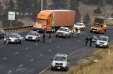(Jefferson Co., Colo. Nov. 23, 2004)  Scene of westbound I-70 at Chief Hosa exit where a State...