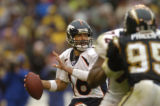 (San Diego, CA, December 5, 2004)  Game action in the second quarter of the Denver Broncos against...