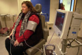 (Denver, Co.,  Nov.  24, 2004) Julie Svoboda, 29   gets her vitals taken during a appointment...