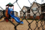 (FT COLLINS, Colo., November 24, 2004)  Scene of the  neighborhood playground at the Buffalo Run...