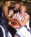 [(Greenwood Village, CA, Shot on: 12/10/04)] Thunder Ridge Mike Evans(left) Tyler Nadling(center...