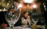 (DENVER, Co., SHOT 10/22/2004) Rioja co-owner and general manager Beth Gruitch (center) tastes...