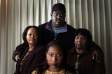(12/13/04,Denver, CO) 16-year-old shooting victim Byris Williams' family - seated is his mother...