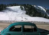 (11/30/2004) Backcountry skiers hike to the top of Berthoud Pass on Monday, November 30, 2004. The...