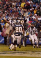 (San Diego, CA, December 5, 2004)  Rod Smith bobbles an underthrown ball that was intercepted in...