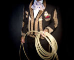 (DENVER, CO., JANUARY 8, 2005) Mexican Rodeo Charro Gerardo Diaz, sports his Mexican made hand...