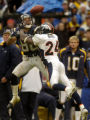 (San Diego, CA, December 5, 2004)  Champ Bailey breaks up a pass intended for Eric Parker in the...