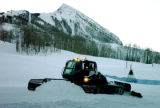 (CRESTED BUTTE Colo., November 29, 2004) One of Crested Butte's new snowcats grooms the snow at...