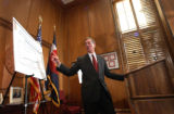 (DENVER, CO. DECEMBER 20, 2004) Govenor Bill Owens discussed his Colorado Fiscal Stabilization...