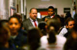 (DENVER, Colo., Jan. 10, 2005) KIPP Sunshine Peak Academy principal Richard Barrett (cq) stands in...