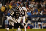 (San Diego, CA, December 5, 2004)  Game action in the first quarter of the Denver Broncos against...