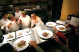 (DENVER, Co., SHOT 11/17/2004) Rioja co-owner and executive chef Jennifer Jasinski (center) works...
