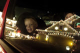 (Denver, Colo., 12/2/ 2004) The  City and County Building holiday lights bring joy to all on a...