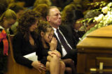 (12/10/2004) Littleton, Colorado-Marla Sewell, Littleton, her daughter Brooke, 10, and father...