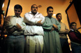[Denver, CO - Shot on: 11/9/04] Muslims partake in one of their five daily prayer sessions at the...