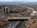 (Denver, Co.,  Nov.  24, 2004)  View of the new (foreground) and old Colorado Blvd. bridge over...