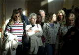 (11/12/2004 Castle Rock, Colorado) Relatives of Marvin Gilchrist, who was killed in a head on...