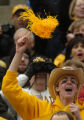(Lincoln NB, November 26, 2004)  A CU fan cheers during the CU Nebraska game at Lincoln, NB, on...