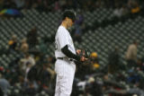 The rain didn't cool off Rockies Picture Jeff Francis at Coors Field Wednesday evening May, 3,...
