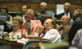Rep Wes McKinley (D-Walsh) yawns as the Republicans lampoon the Democrats. In Denver, Colo. on...