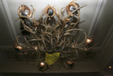An antler chandelier lamp is available for $4700.00. The Embassy Suites Hotel, 18th and Curtis...