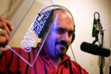Jon Caldara (cq), the President of the Independence Institute and talk show host, poses for a...