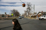 South High School sophomore Jessica Frias (cq), 15, walks home to Santa Fe and Third Avenue from...