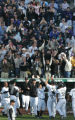 JPM306  Colorado Rockies Matt Holliday, #5, celebrates with teammates, including Jamey Carroll,...