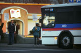 Striking RTD employees  picket neat the East Metro Station terminal on East Colfax Ave. near...