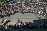 Thousands of students rally on the west steps of the Capital Wednesday morning April 19, 2006 in...