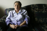 89-year-old Ana Chavez (cq) waited for a bus to go to her beauty parlor for three hours before...