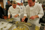 EJ771   Jennifer Jasinski (cq), left, executive chef and owner of Rioja restaurant in Denver, and...
