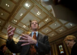 (DENVER, CO., JANUARY 13, 2005) Speaker of the House, Andrew Romanoff, D-Denver, speaks with...