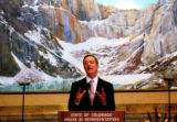 (DENVER, Colo., January 13, 2005) Colorado Govenor Bill Owens gives his State of the State address...