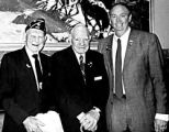 Left to right - Victor Fast; Victor Sestokas; Rep. Larry Liston, R-Col. Springs