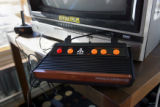 A vintage Atari sits in the lodge area at Echo Mountain Park near Evergreen on Sunday April 9,...